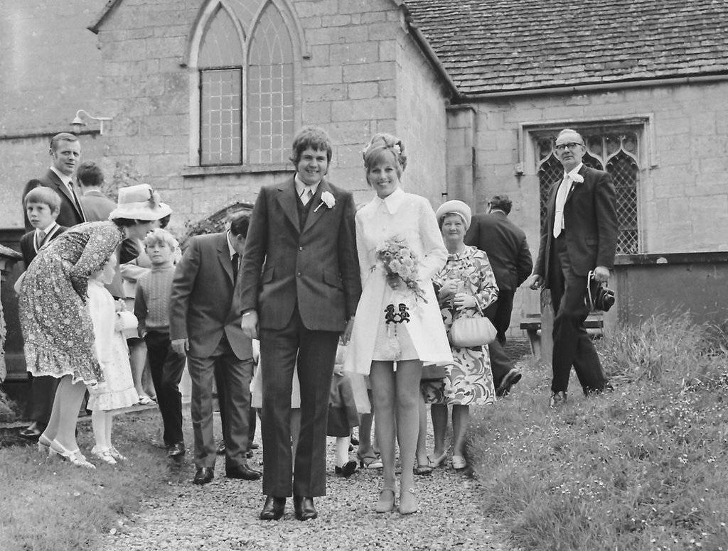 Old photo of a wedding in Frampton
