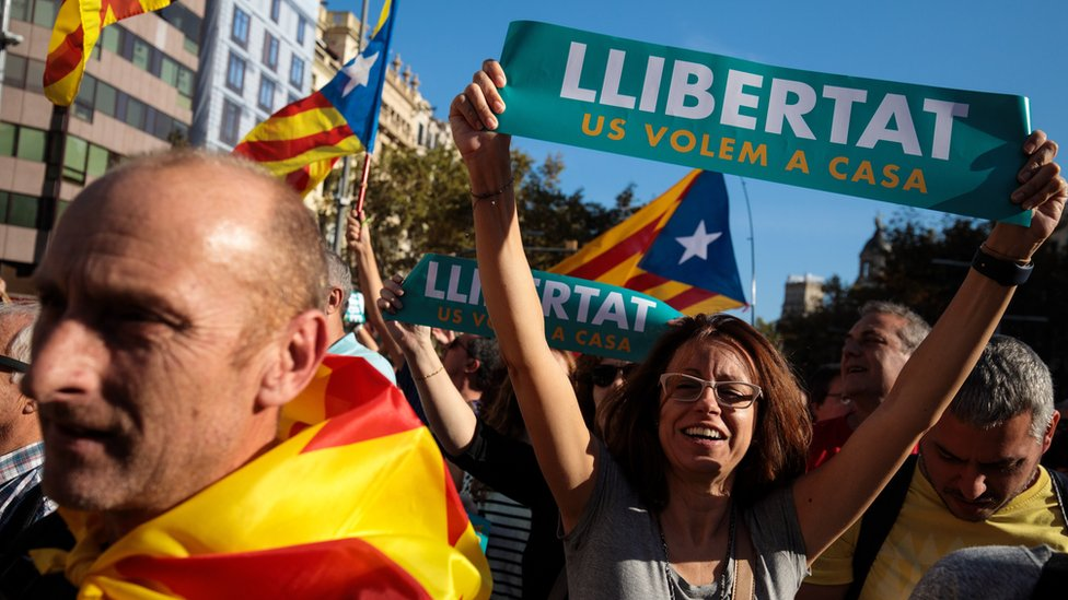 Catalan protesters