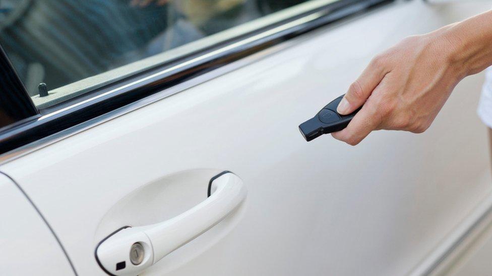 car being locked