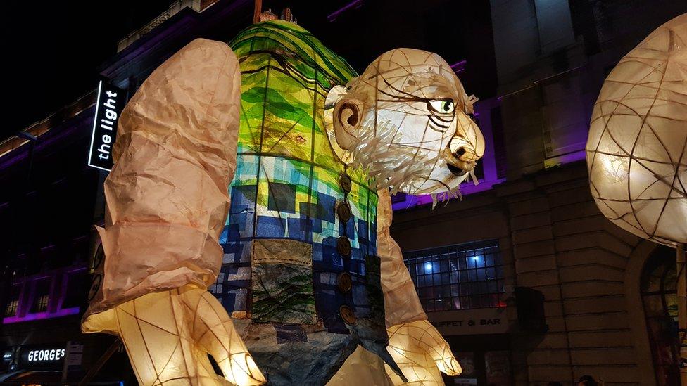 A lantern in the amazing Light Night parade