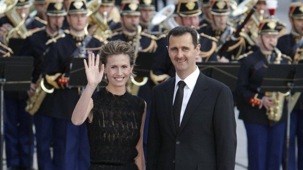 بشار الأسد وزوجته أسماء