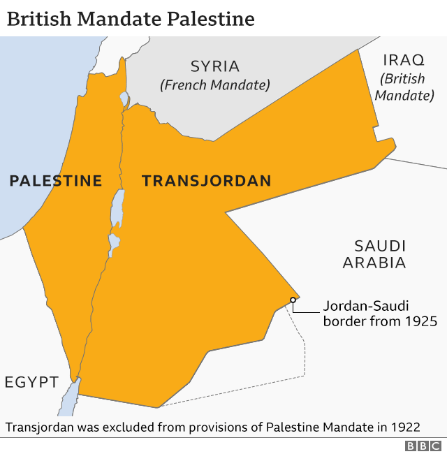 British Mandate Palestine map
