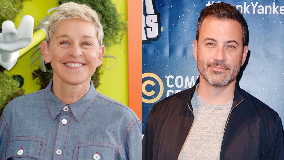 Ellen DeGeneres and Jimmy Kimmel