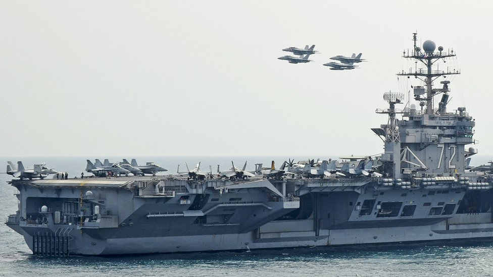 US Navy handout file photo showing the USS Abraham Lincoln (9 February 2012)