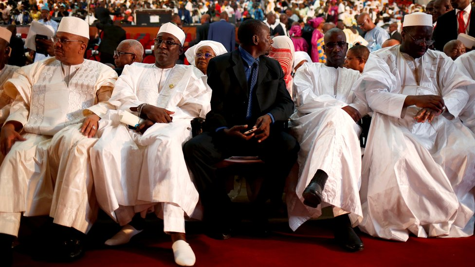 Guests attend the presidential inauguration ceremony of Mali's President Ibrahim Boubacar Keita in Bamako, Mali September 4, 2018.