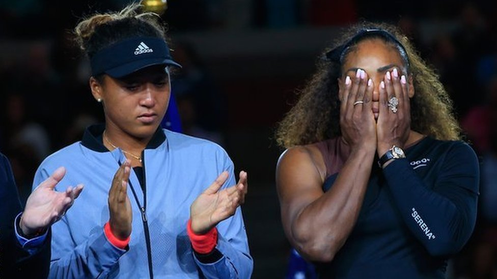Naomi Osaka y Serena Williams.