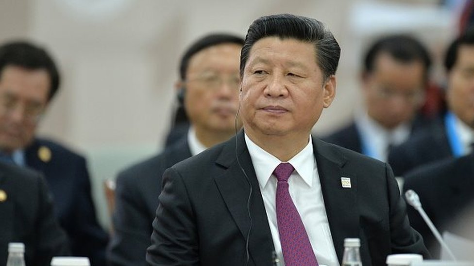 President of the People's Republic of China Xi Jinping at an expanded meeting of the SCO Heads of State Council including delegations. during the BRICS/SCO Summits - Russia 2015 on July 10, 2015 in Ufa, Russia.