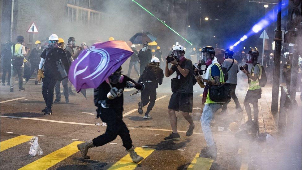 香港示威沒有平息的跡象。