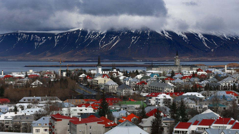 A view of Iceland's capital Reykjavik