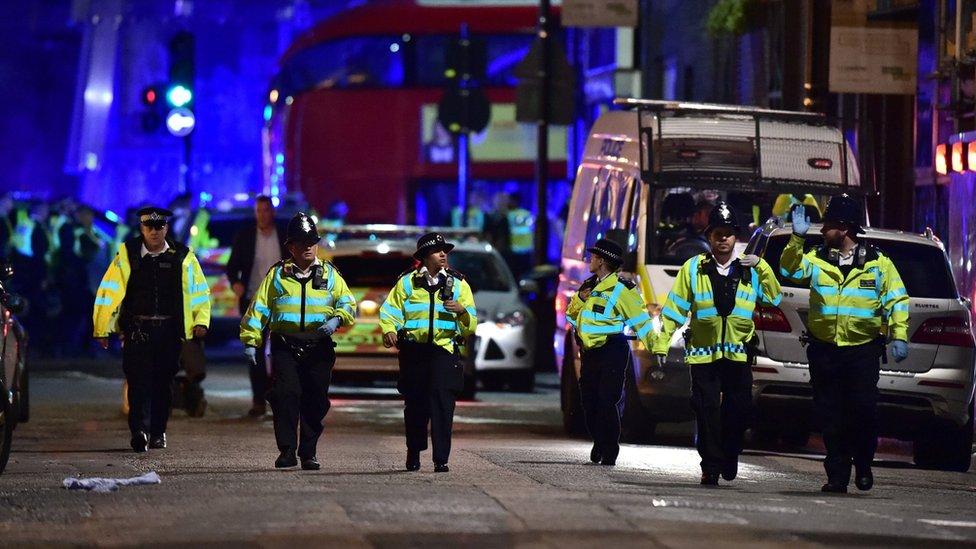 Police at London Bridge