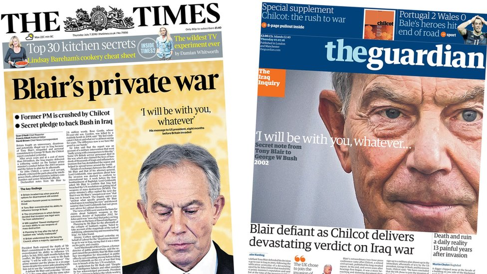 Times/Guardian front pages