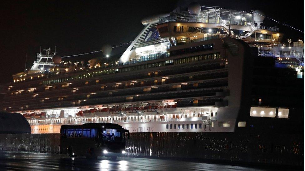 No cruzeiro Diamond Princess, havia mais de 3.700 pessoas a bordo