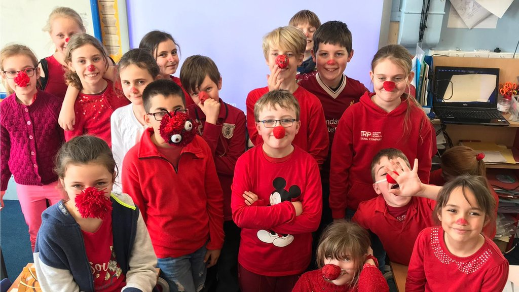 Red Nose Day: School shuns red nose plastic because of pollution fears