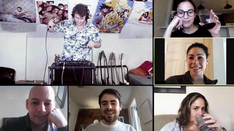 DJ playing on Zoom