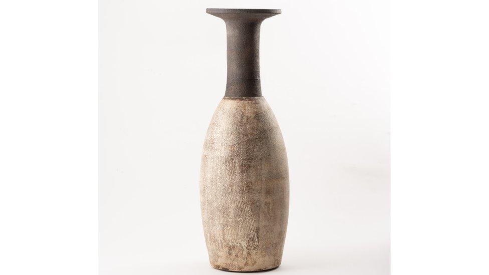 1950s ceramic vase by studio potter Hans Coper