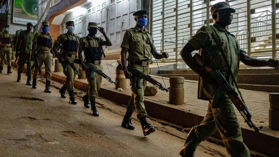 Aparat keamanan Uganda, virus corona, covid-19