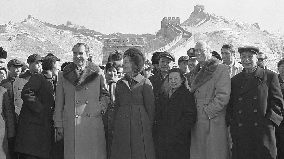 Nixon en la Gran Muralla china