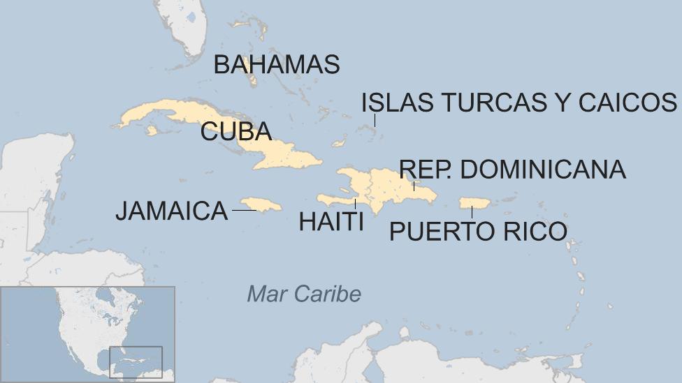 Mapa Antillas Mayores
