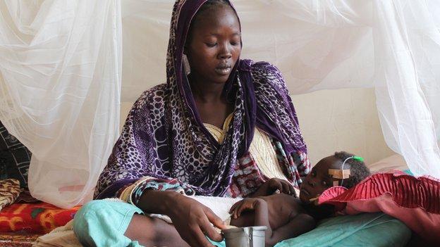 Zenaba and Noura before starting treatment