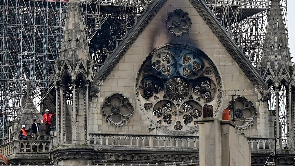 Notre-Dame fire: Paris surveys aftermath of cathedral blaze