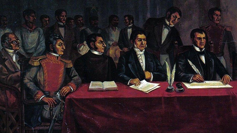 José María Morelos en el congreso de Chilpancingo.