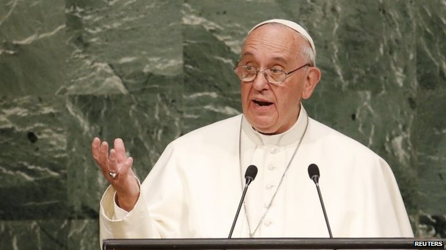 Pope Francis at UN