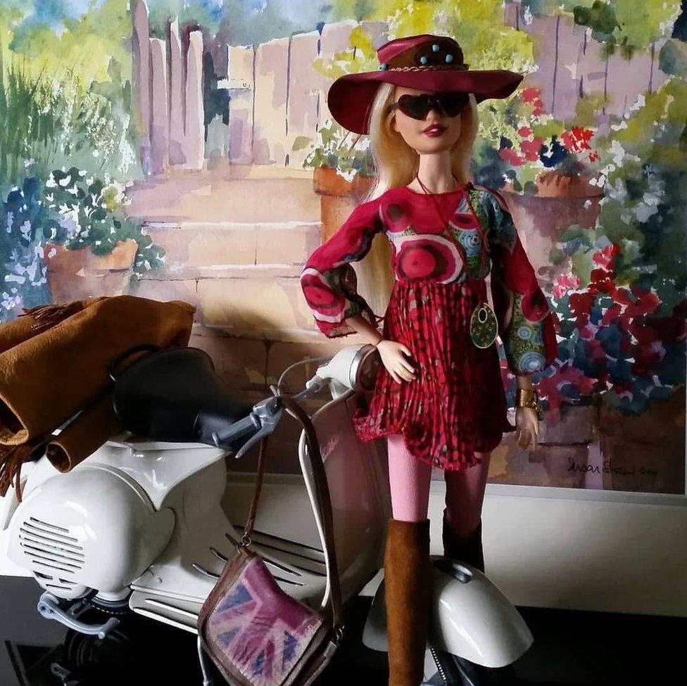 One of Linda's Barbie dolls