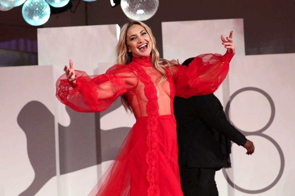 """الممثلة الأمريكية كيت هادسن خلال افتتاح فيلم """"مونا ليزا والقمر الدموي"""""""