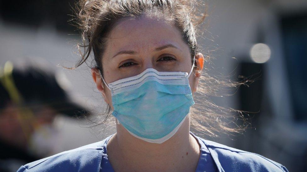 Enfermera en EStados Unidos.