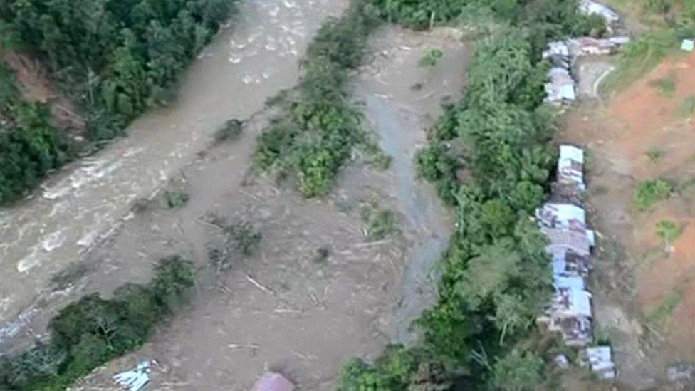 A mudslide in Pampa Hermosa, Peru.