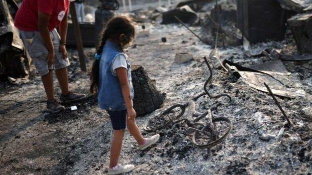 Oregon'da yetkililer eyalette yarım milyon kişinin yangınlar yüzünden evlerinden kaçmak zorunda kaldığını söylüyor