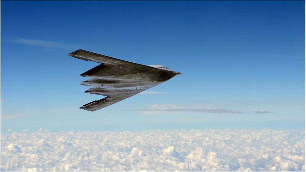 A stealth bomber