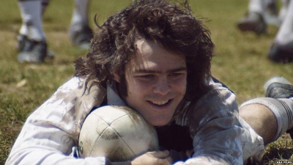 Still from El Clan showing Peter Lanzani portraying Alejandro Puccio