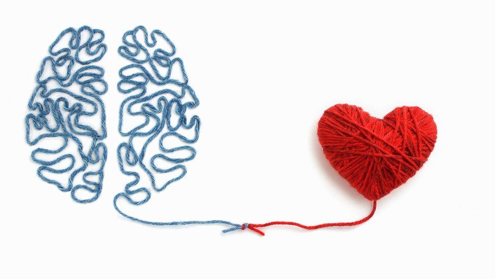 Cerebro y corazón de hilo.