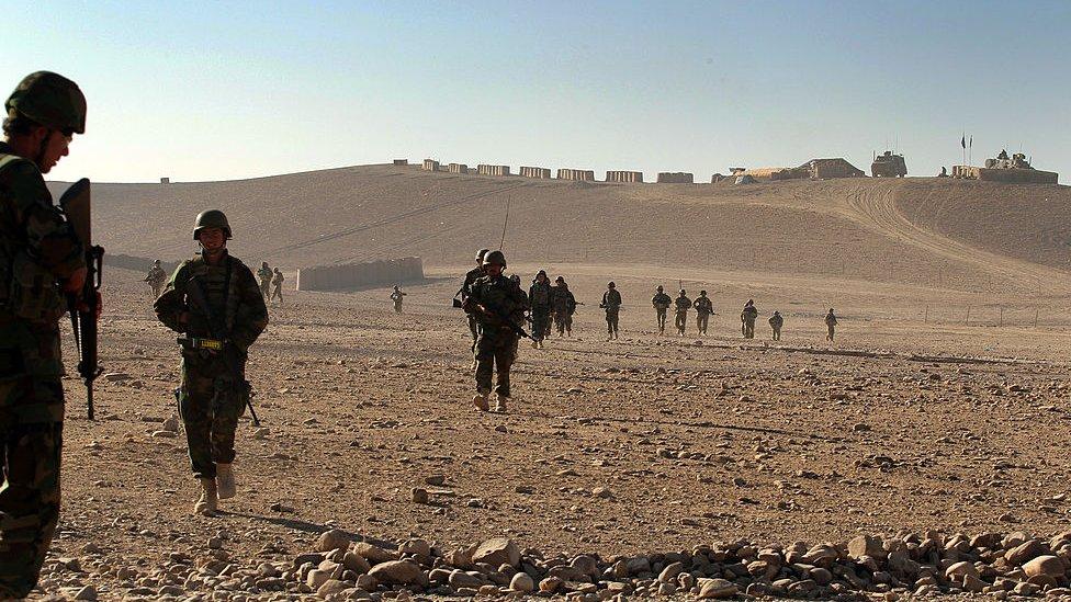Australian soldiers on a patrol in Uruzgan Province in 2010
