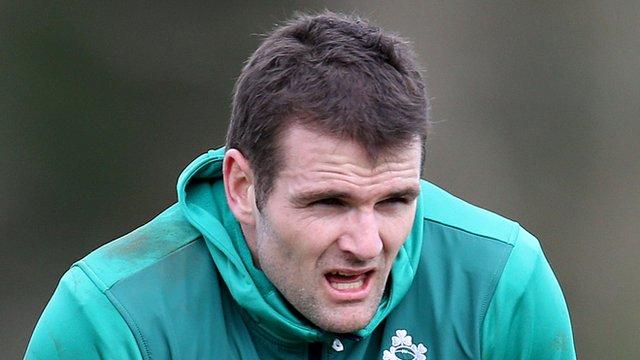 Jared Payne during Ireland training on Thursday
