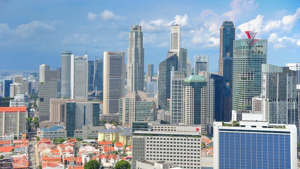 Edificios de Singapur.