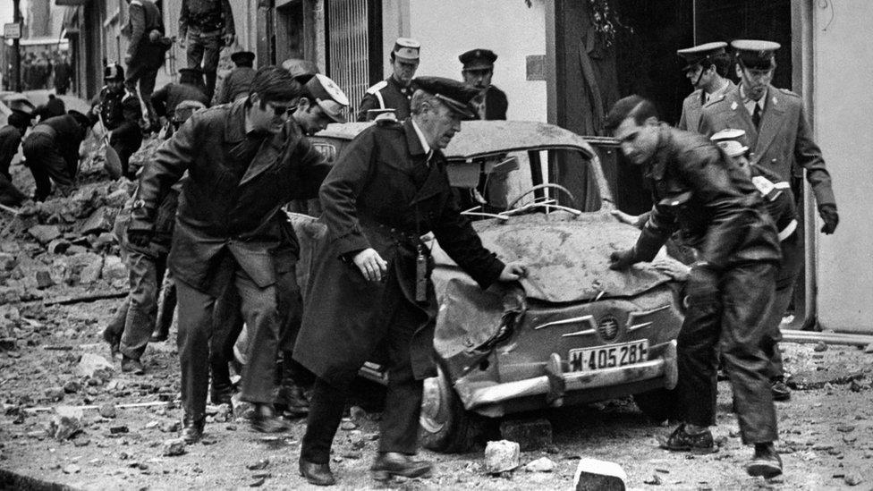 Bomb attack that killed Spanish Prime Minister Luis Carrero Blanco in December 1973