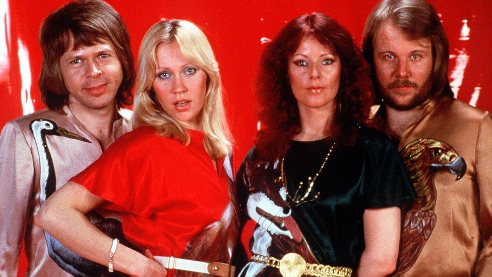 Abba: (l-r) Bjorn Ulvaeus, Agnetha Faltskog, Anni-Frid Lyngstad, Benny Andersson