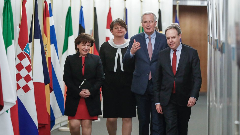 Michel Barnier with DUP delegation