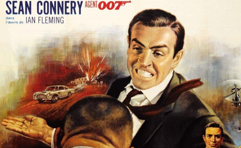 French movie poster for Goldfinger, 1964