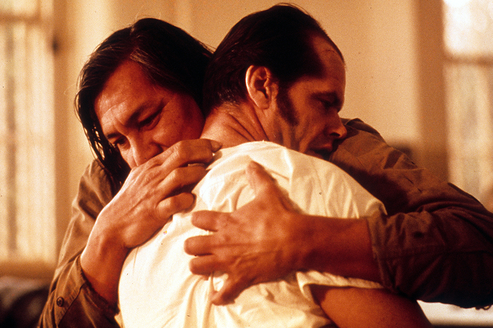 "Una escena de One Flew Over the Cuckoo's Nest (""Atrapado sin salida"")"