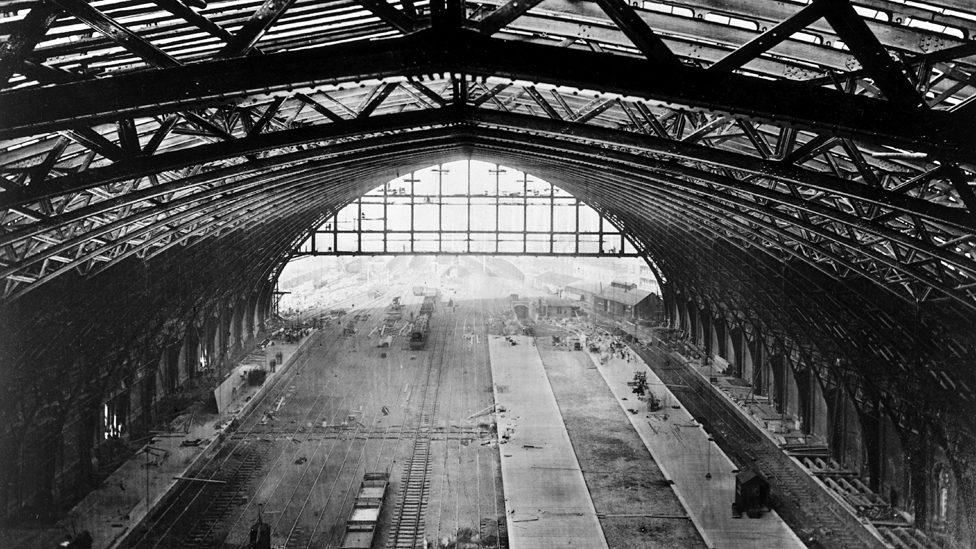 St Pancras station roof, London, 1868