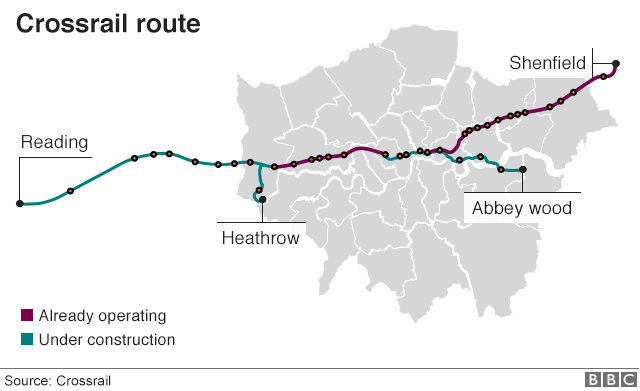 Crossrail map