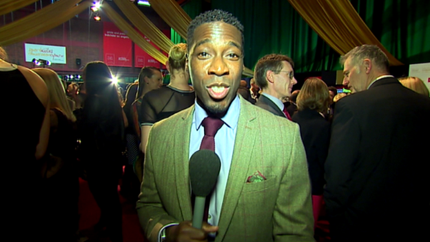 Christian Malcolm at the Wales Sport Awards