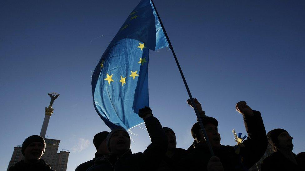 Evromaйdan, flag ES