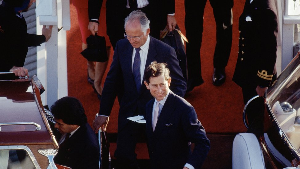 Dickie Arbiter and Prince Charles
