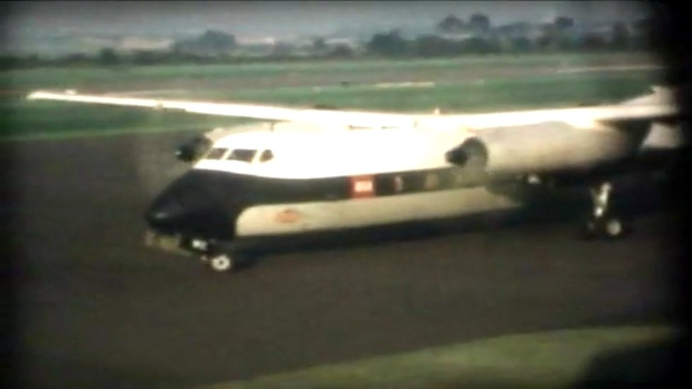 Plane at Edinburgh Airport in 1965