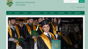 The American University of London website