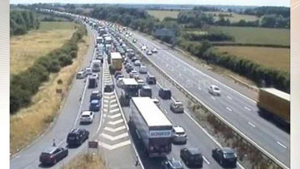M6 near Stafford shuts for hours after fatal lorry crash